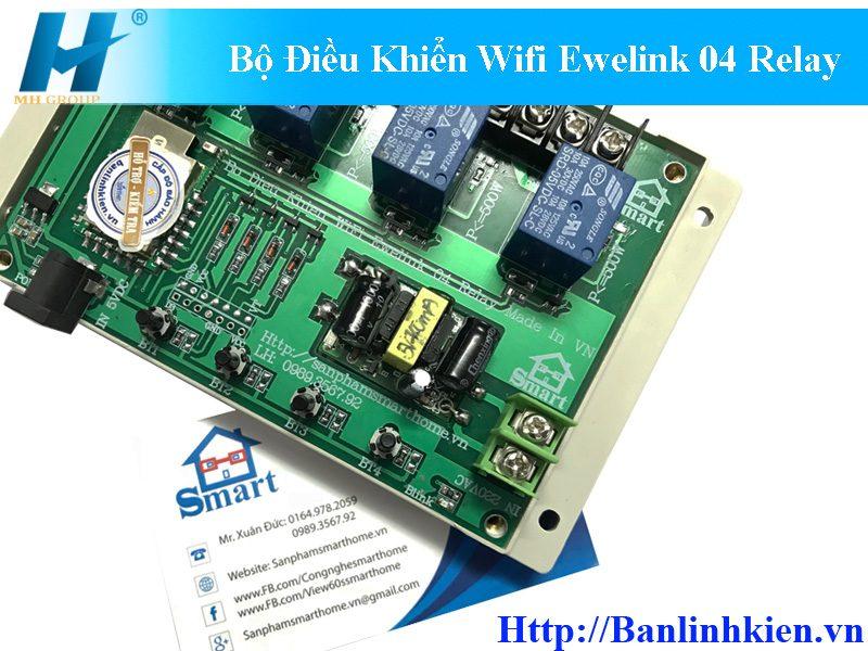 Bộ Điều Khiển Wifi Ewelink 04 Relay Made In VN HS