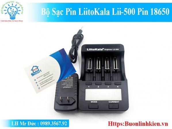 Bộ Sạc Pin LiitoKala Lii-500 Pin 18650-1
